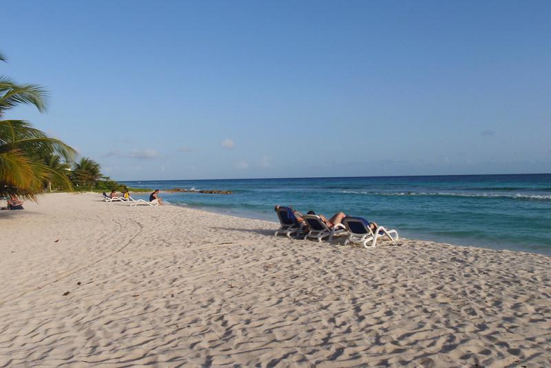 Our hotel beach.