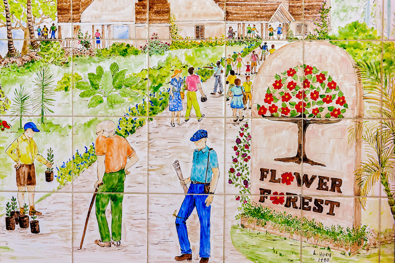 Entrance Mural to 'the Flower Forest' Barbados