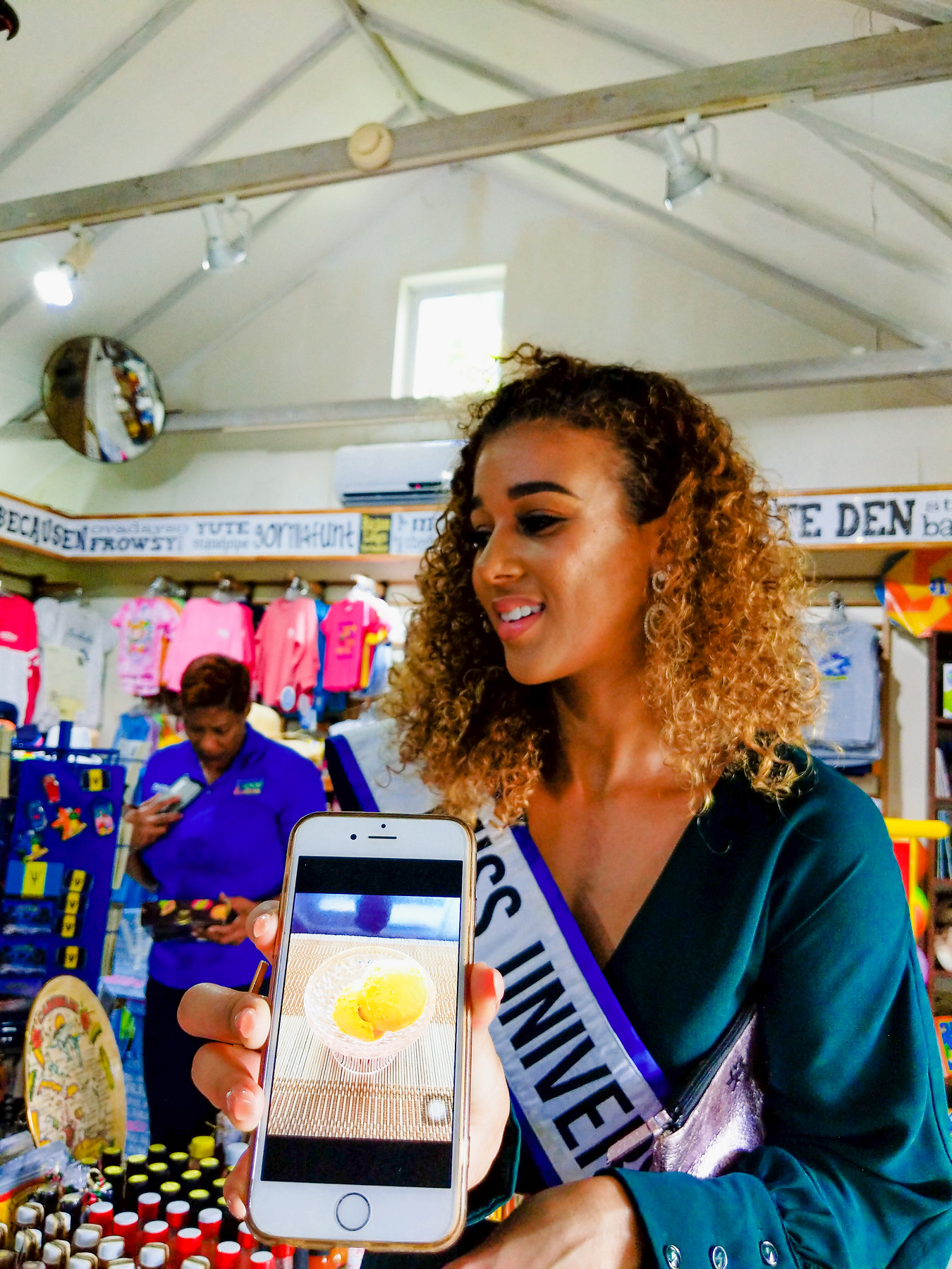 Lesley Chapman-Andrews, Miss Universe Barbados 2017 sharing her favourite mango ice cream recipe.