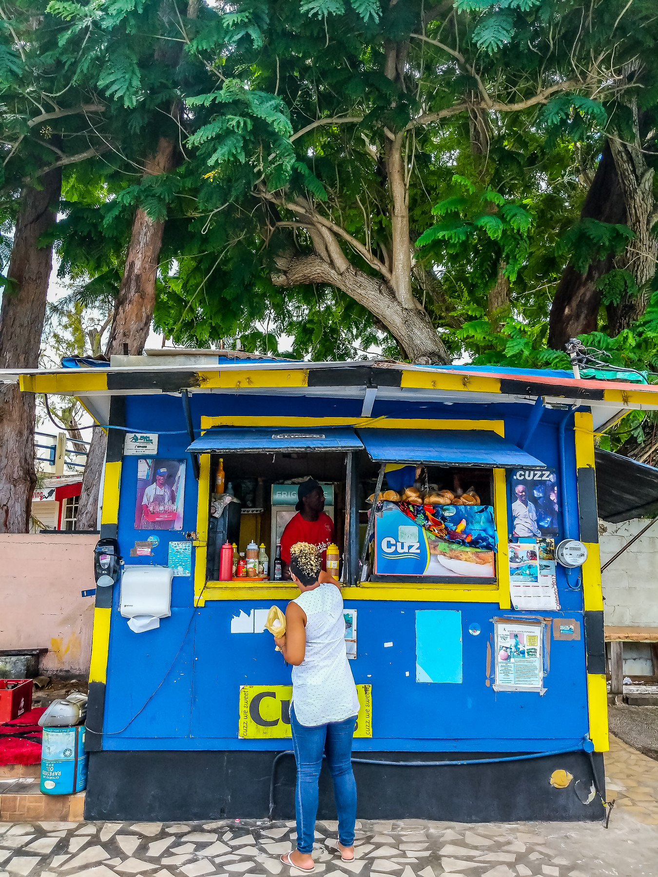 The best Barbados restaurants include Cuz's fish shack just off the beach where you can get a fish cutter and banks beer.
