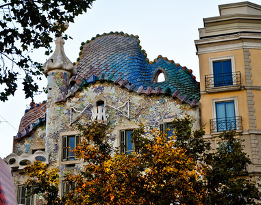Casa Battlo in the afternoon.