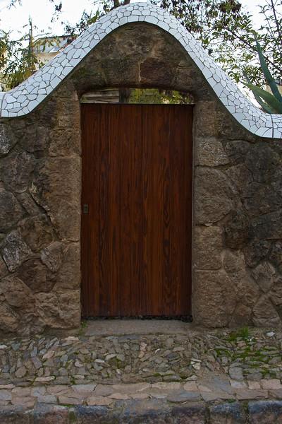 Door in the wall surrounding the park