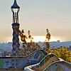 View from the plaza in Parc Guell