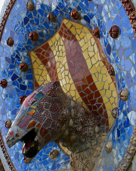 Mosaic by the entrance