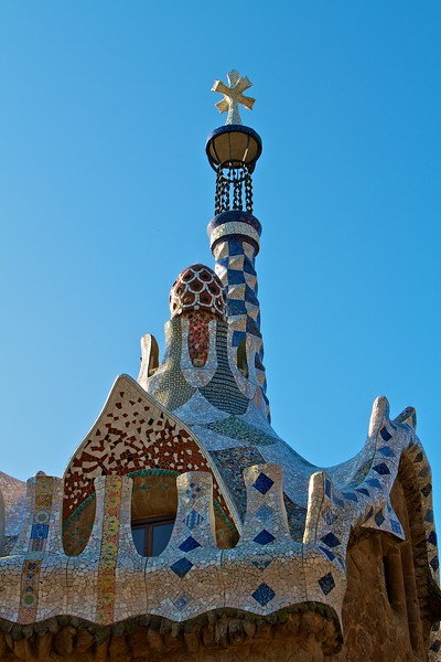 Mozaic roof at Parc Guell