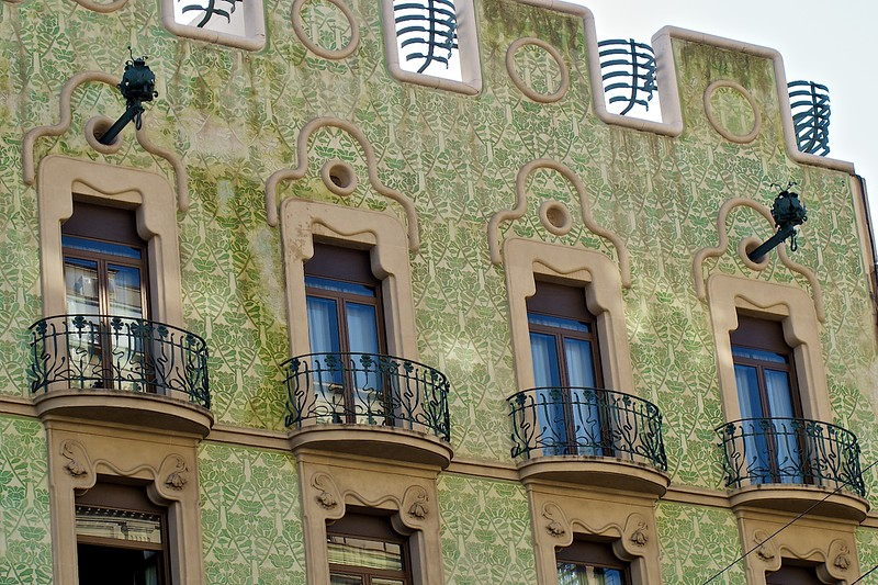 Barcelona's version of Art Nuveau, Modernisme: a cultural movement associated with the search for Catalan national identity. It is often understood as an equivalent to a number of art movements, such as Art Nouveau, Jugendstil, Secessionism, and Liberty style, and was active from roughly 1888 (the First International Exhibition of Barcelona) to 1911 (the death of Joan Maragall, the most important Modernista poet). The Modernisme movement was centred on the city of Barcelona, and is best known for its architectural expression, especially the work of Antoni Gaudí, but was also significant in sculpture, poetry, theatre and painting—notable painters include Santiago Rusiñol and Ramon Casas (from Wikipedia).