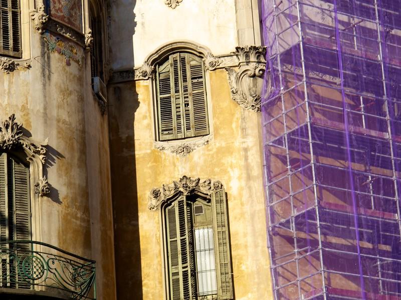 Many older buildings are under restoration