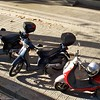 Small motorbikes and scooters are to Barcelona what the bicycle is to Amsterdam.....