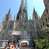 Barcelona cathedral, still under construction.