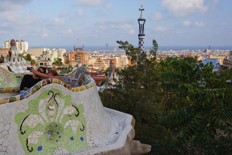 A view of Barcelona from Parc Guell.