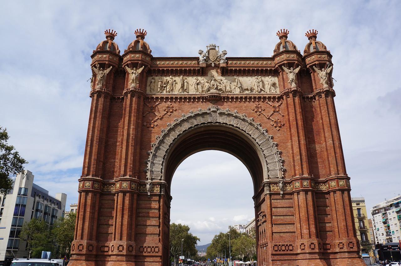 A replica of the Arc de Triomf in Barcelona.