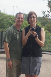 Photo opportunity for Matt and Karen at the aquarium in Barcelona.