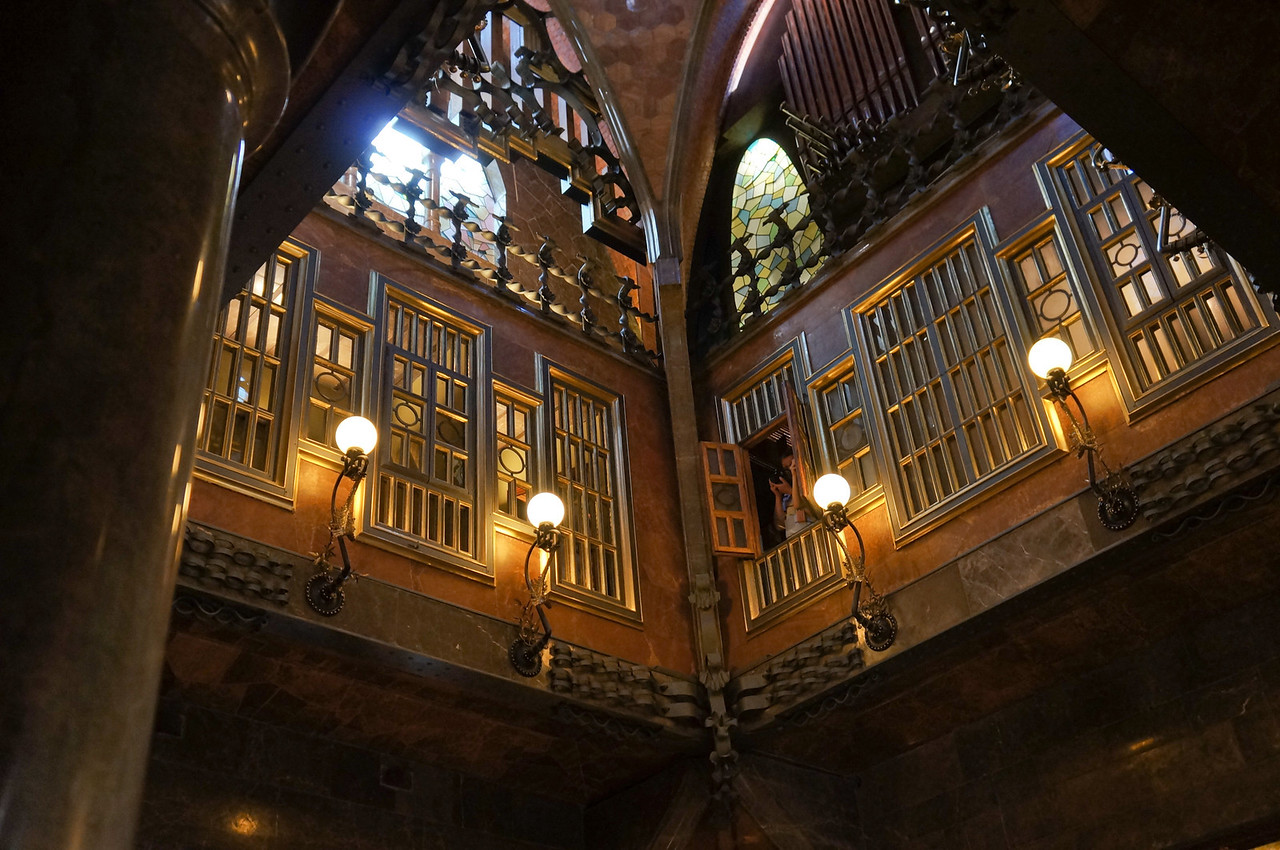 An almost church-like feel inside the Palau Guell residence was created by the intricate designs of the architect Antonio Gaudi.