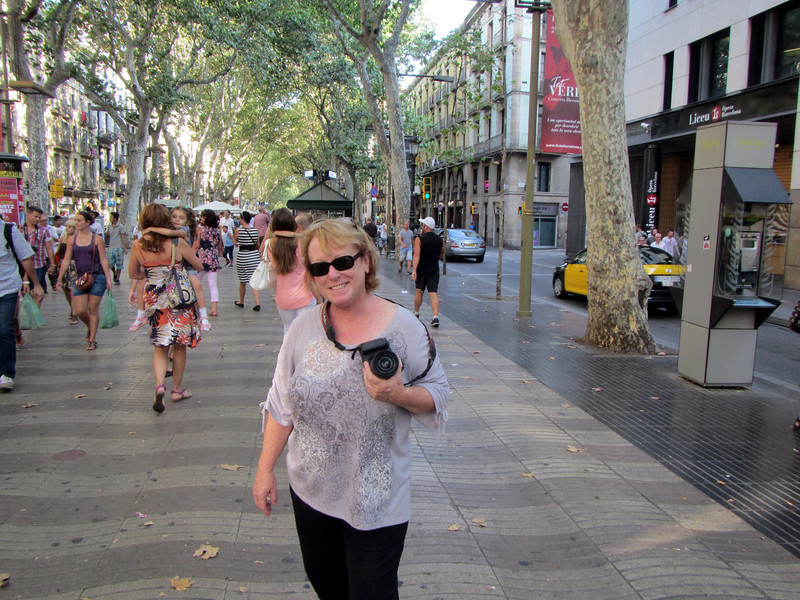 Sharon on Las Ramblas