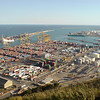 The container port from the castle ramparts on Montjuic