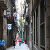 Typical street in the old part of Barcelona. Nothing fancy here, this is the 'ordinairy people' district.