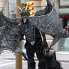 Ramblas, just guess the weight of these huge wings. But no need to feel sorry for this guy: at the end of the day all these street artists earn healthy money!!! (at least 150 euro a day!!). They would NOT be there if they would not get a single penny...