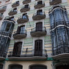 Awesome architecture!! Just look at the forged iron windows. Many outside walls in Barcelona have these speciale shapes 'painted' on them.
