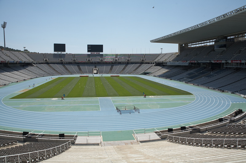 The Olympic track stadium.