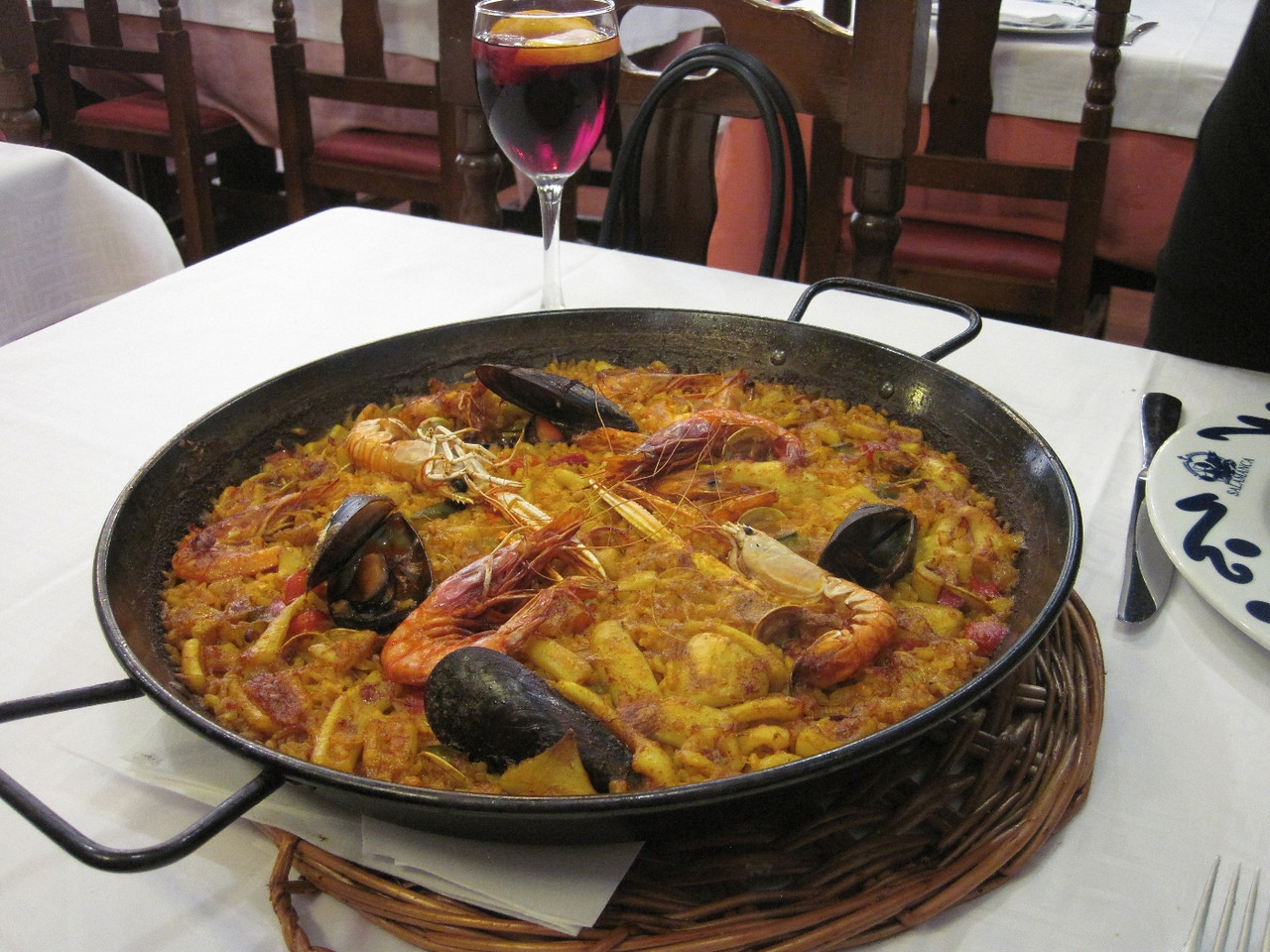 Paella and sangria. This paella was so much better than what we've had at Jaleo in DC.