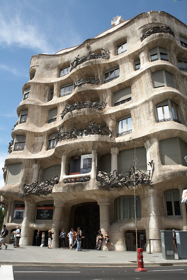 Casa Mila, another one of Gaudi's works Apparently, it's more commonly known as La Pedrera, but we knew it as Casa Mila.