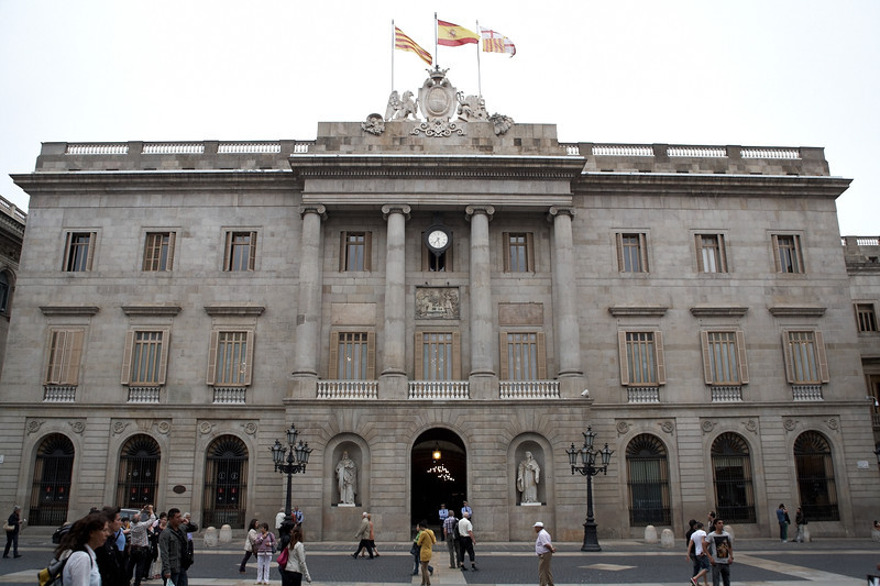 This is Casa de la Ciutat, the city hall. It's located in Placa de Jaume I, a large square not far from the cathedral.
