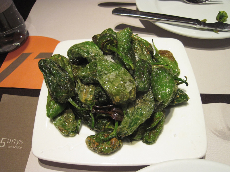 This is one of our favorite tapas - grilled padron peppers. I think we had this dish three times. Apparently, the pepper used for this dish is only available from a certain region of Spain.