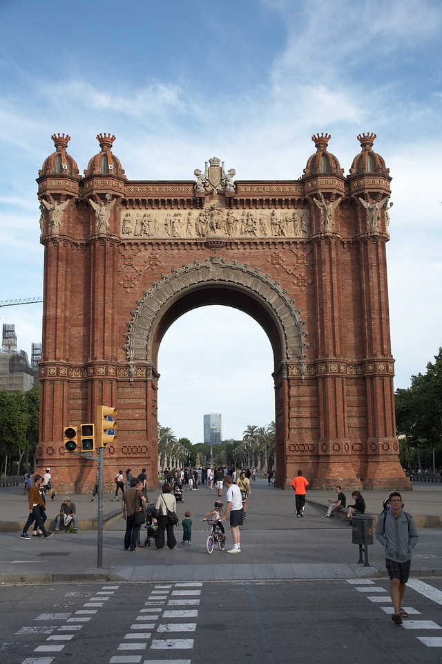Arc de Triomf. This monument was very close to our hotel, so we saw it often when we got off the metro. On maybe the second to last day, we decided to take a photo of it.