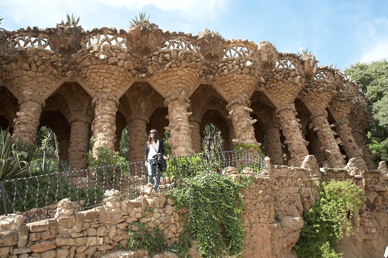 This is one of the first sights inside Gaudi's Park Guell. We ended up walking through the northern section of the park before getting to the more famous sections.