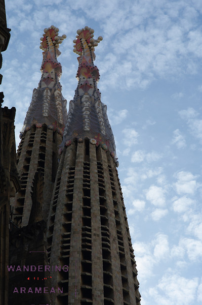 Two of the completed spires.  More are still being built.