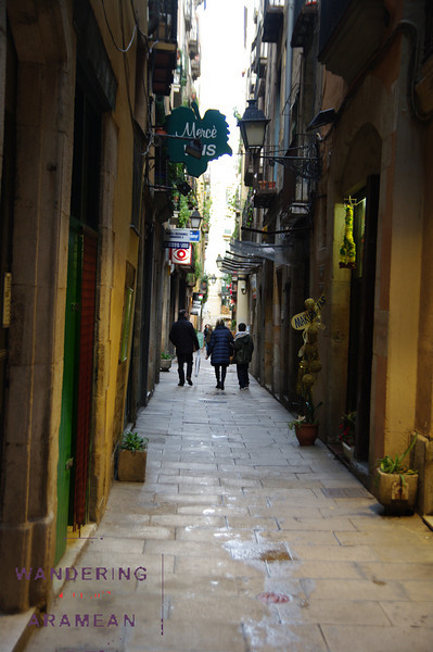 One of many small alley ways off the Las Ramblas thoroughfare