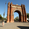 Barcelona Arc de Triomf.  It was built in 1888 for the 1888 Barcelona State Fair.