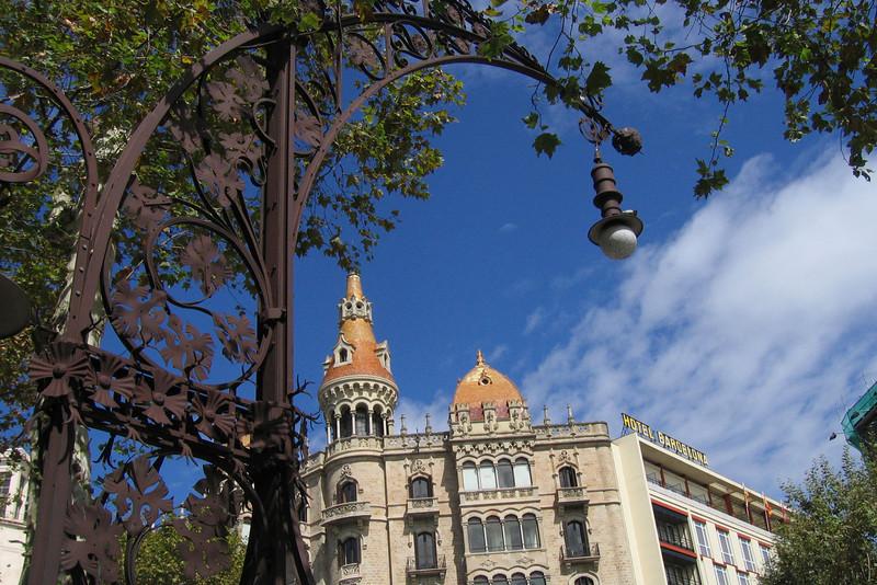 Wrought-iron lampposts along the Eixample's Passeig de Gràcia