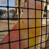 In the industrial Poble Nou barrio, graffiti and construction are common sights.