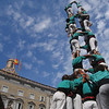 Some 60 casteller colles, or teams, lay scattered across Catalonia. This turquoise-clad group hails from Vilafranca del Penedes, a town in the wine country about 30 miles southwest of Barcelona.