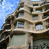 The curvy facade of Antoni Gaudí's La Pedrera (aka Casa Milà) in the Eixample neighborhood