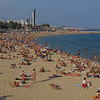 Barcelona's beach, on the Mediterranean Sea