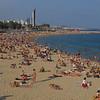 Barcelona's beach, on the Mediterranean Sea