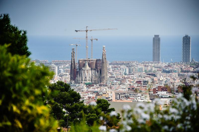 La Sagrada Familia - From Parc Guell