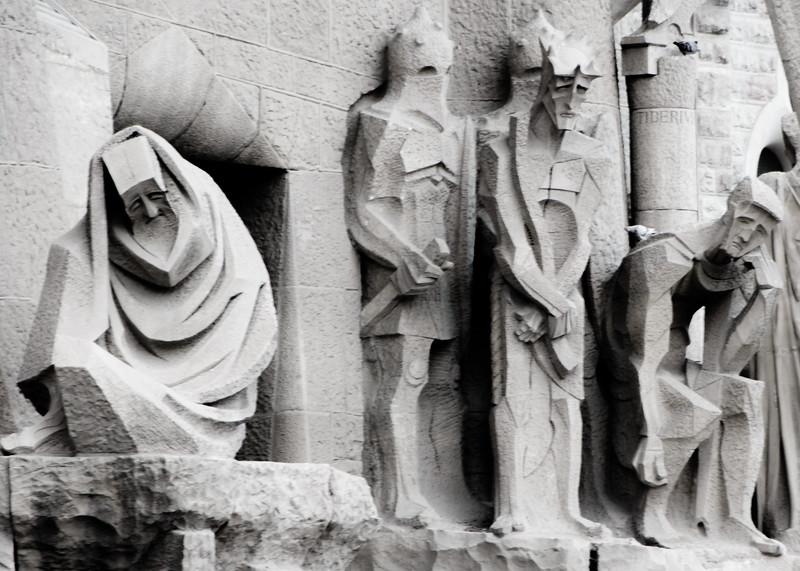 Detail from a distance - La Sagrada Familia Barcelona