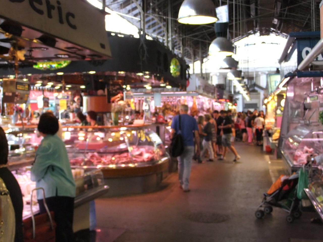 Mercado la Boqueria on La Rambla