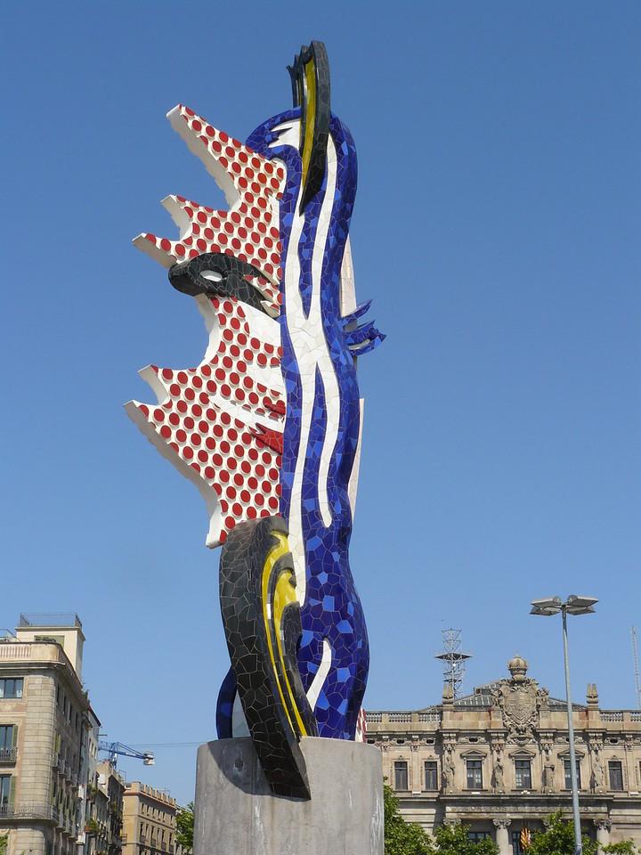Sculpure at port of Barcelona