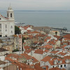 Overlooking Lisbon from the castle.