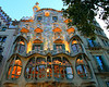 "Antonio Gaudi's Casa Batllo - part of Barcelona's ""Block of Discord,"" named so because it is filled with architecture like this."