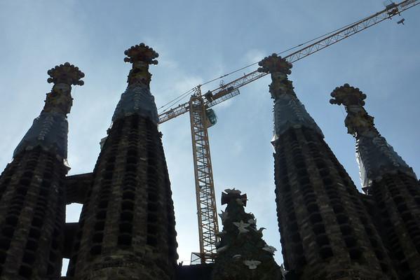 Sagrada Familia...bygget som aldri vert ferdigt..