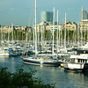 Båthavna i Barcelona..