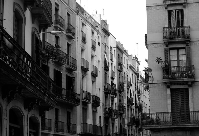 Barcelona Apartments in Black and White