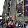 Getting ready to see FC Barcelona at Camp Nou.