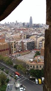 View from Gaudí's Sagrada Familia.