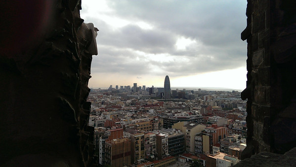 View of the Agbar Torre from Gaudí's Sagrada Familia.